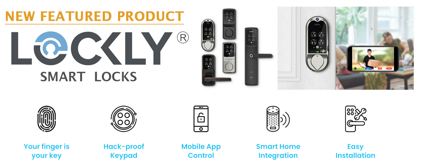 New Featured Product: Lockly Smart Locks